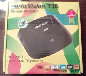 Эфирный ресивер для Т2 World-Vision T38
